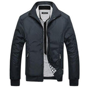 West Louis™ Winter Casual Man Slim Jacket Black / L - West Louis