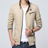 West Louis™ Windbreaker Summer Jacket Khaki / L - West Louis