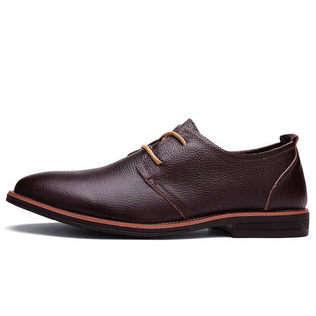 West Louis™ Oxfords Genuine Leather Formal Shoes Dark Brown / 6 - West Louis