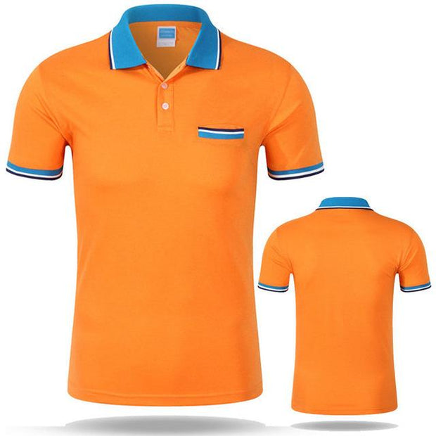 West Louis™ Cotton Casual Breathable Polo Shirt Orange / S - West Louis