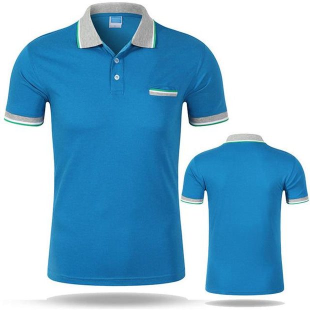 West Louis™ Cotton Casual Breathable Polo Shirt Lake blue / S - West Louis