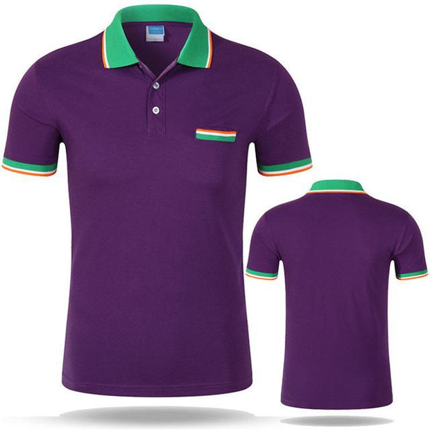 West Louis™ Cotton Casual Breathable Polo Shirt Purple / S - West Louis