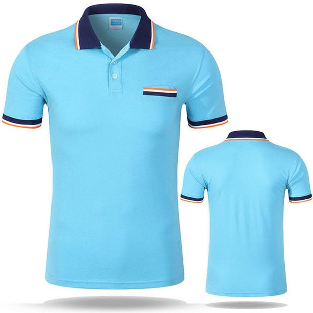 West Louis™ Cotton Casual Breathable Polo Shirt Sky blue / S - West Louis