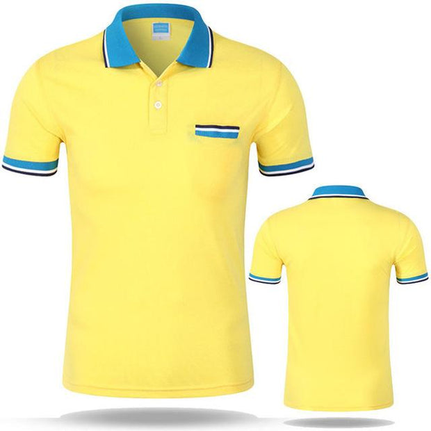 West Louis™ Cotton Casual Breathable Polo Shirt Yellow / S - West Louis