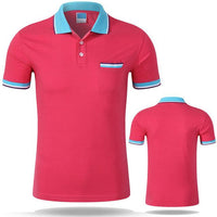 West Louis™ Cotton Casual Breathable Polo Shirt Rose red / S - West Louis