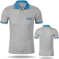 West Louis™ Cotton Casual Breathable Polo Shirt Gray / S - West Louis