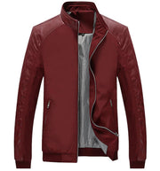 West Louis™ Business PU Leather Slim Jacket Red / XS - West Louis