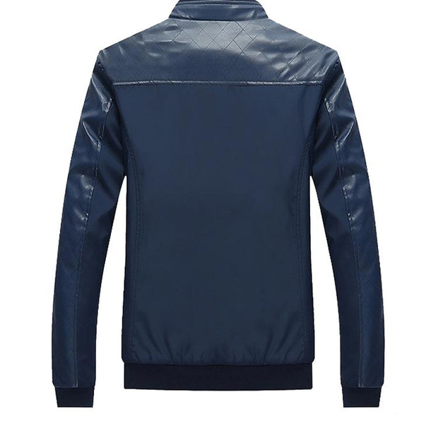 West Louis™ Business PU Leather Slim Jacket  - West Louis