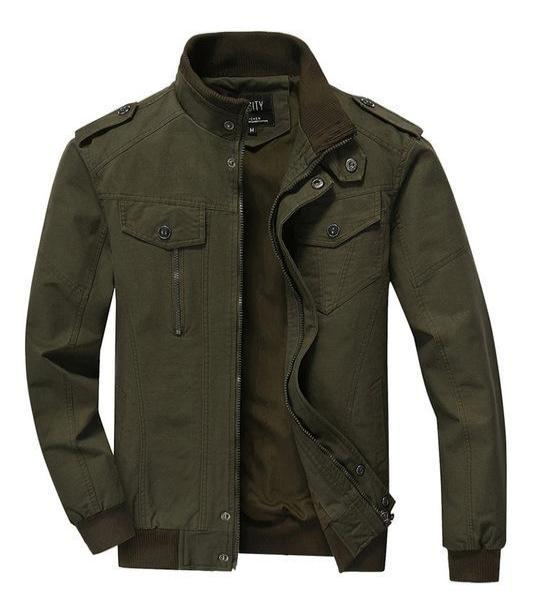 West Louis™ Spring Bomber Casual Jacket Army Green / XS - West Louis