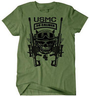 West Louis™ US Marines Infantry Assaultman T-Shirt Army Green3 / S - West Louis