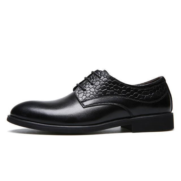 West Louis™ Black Men's Business Breathable Oxfords Black / 7 - West Louis