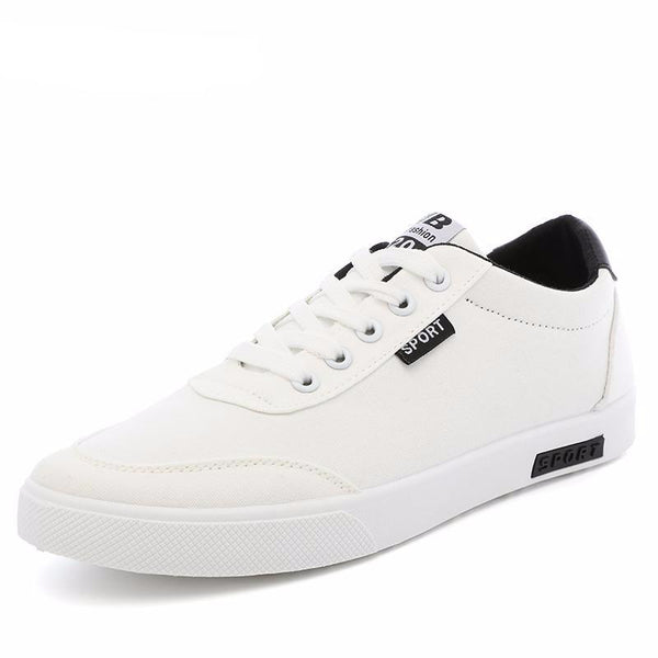 West Louis™  White Canvas Trend Sneakers