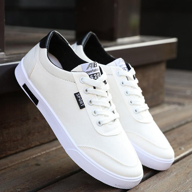 West Louis™  White Canvas Trend Sneakers white / 6.5 - West Louis
