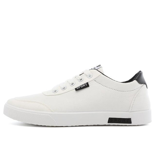 West Louis™  White Canvas Trend Sneakers  - West Louis