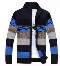 West Louis™ Knitted Sweater Cardigan Blue / M - West Louis