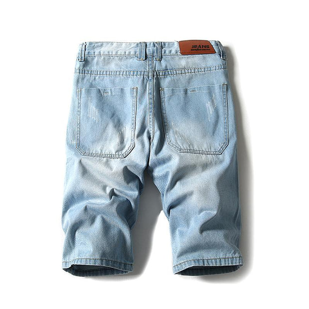 West Louis™ Mens Light Jeans Shorts  - West Louis
