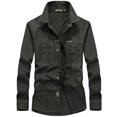 West Louis™ Military Cotton Shirt Green / M - West Louis