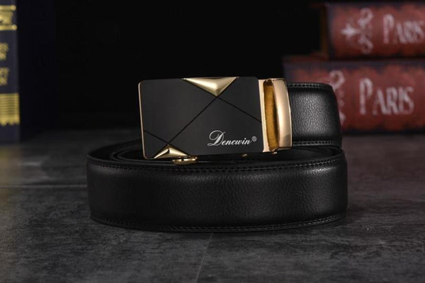 West Louis™ Cowskin Genuine Luxury Leather Belt  - West Louis