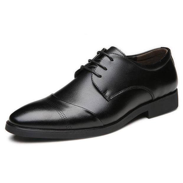 West Louis™ Tide Pointed England Style Business Shoes  - West Louis