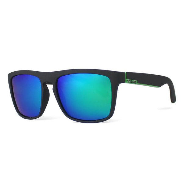 Black And Green Classic Wayfarer Style Sunglasses Blue - West Louis