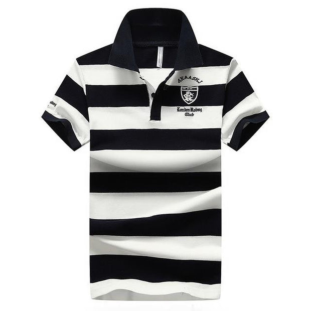 West Louis™ Summer Breathable Striped Polo Blue / XS - West Louis