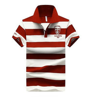 West Louis™ Summer Breathable Striped Polo Red / XS - West Louis