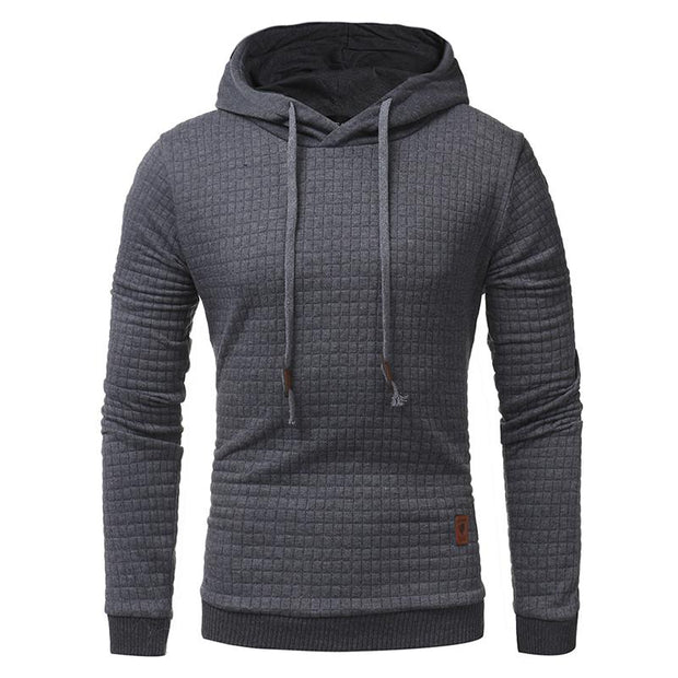 West Louis™ Autumn Solid Color Hoodie Dark Gray / L - West Louis