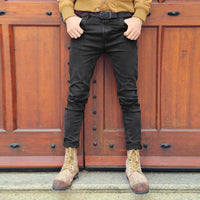 West Louis™ Black Denim Ripped Jeans  - West Louis