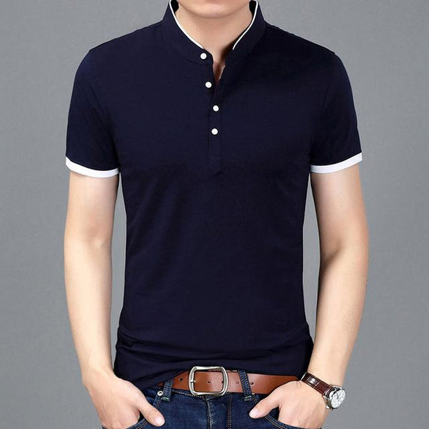 West Louis™ Casual Polo Shirts Navy / S - West Louis