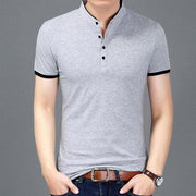 West Louis™ Casual Polo Shirts Silver / S - West Louis