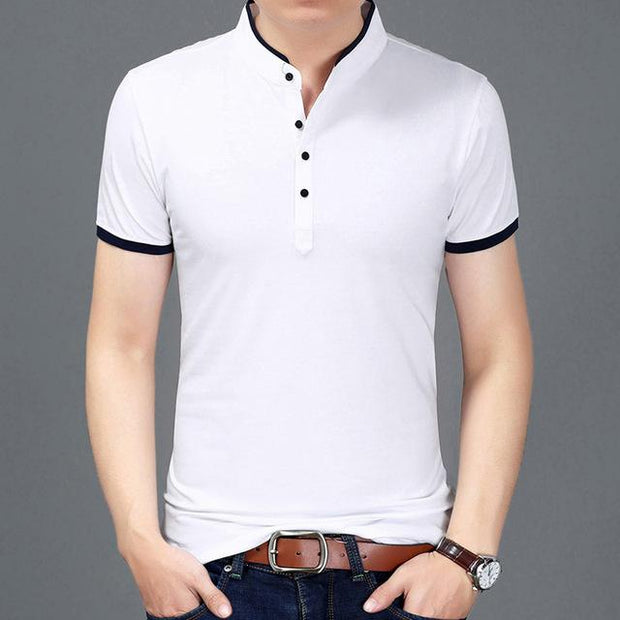 West Louis™ Casual Polo Shirts White / S - West Louis