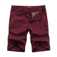 West Louis™ Bermuda Washing Multi-Pocket Men Short wine red / 29 - West Louis