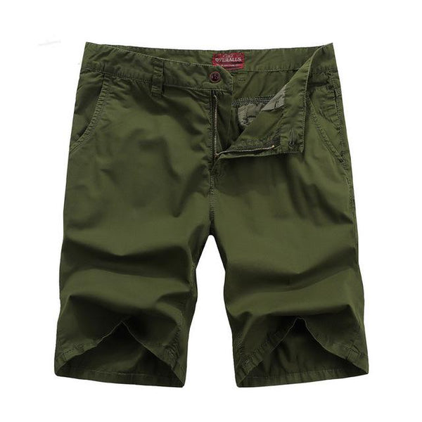 West Louis™ Bermuda Washing Multi-Pocket Men Short Army Green / 29 - West Louis