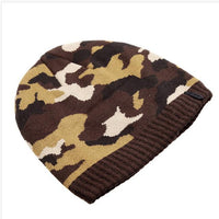 West Louis™ Camo Beanie coffee - West Louis