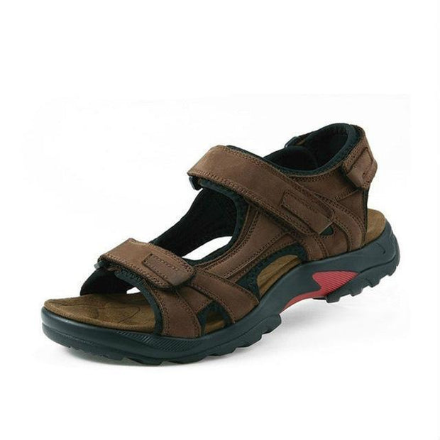 West Louis™ Leisure Genuine Leather Sandals Brown / 6.5 - West Louis