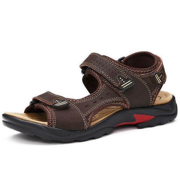 West Louis™ Leisure Genuine Leather Sandals Dark brown / 6.5 - West Louis