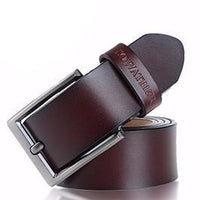 West Louis™ Vintage Style Pin Buckle Cow Genuine Leather Belt  - West Louis