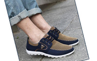 West Louis™ Comfortatble Canvas Men Driving Shoes  - West Louis