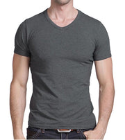 West Louis™ V-neck Cotton T-Shirt  - West Louis