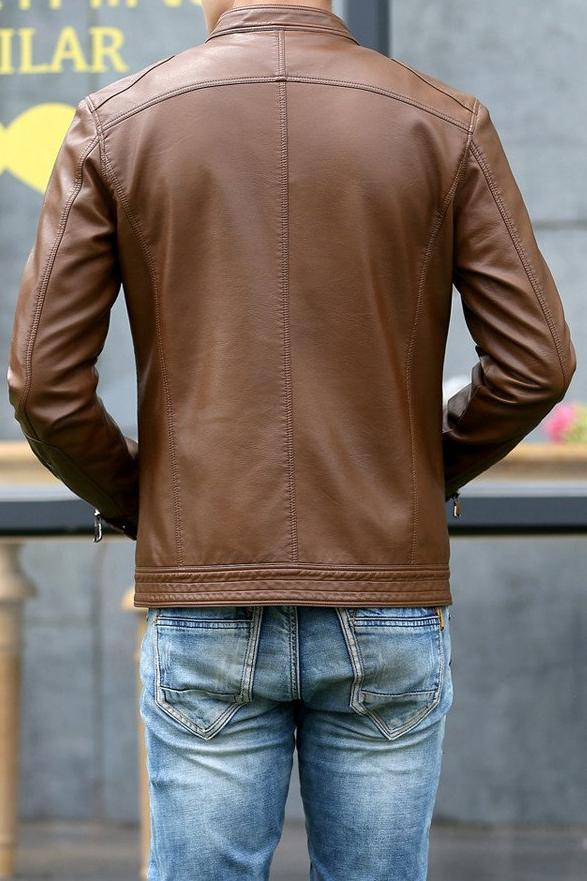 West Louis™ Motorcycle Leather Jacket  - West Louis