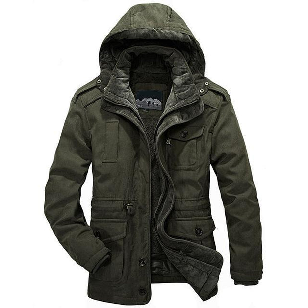 West Louis™ Men Warm Parkas Heavy Wool Coat Army Green / XXL - West Louis