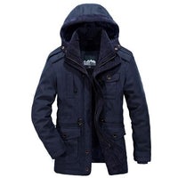 West Louis™ Men Warm Parkas Heavy Wool Coat Blue / XXL - West Louis