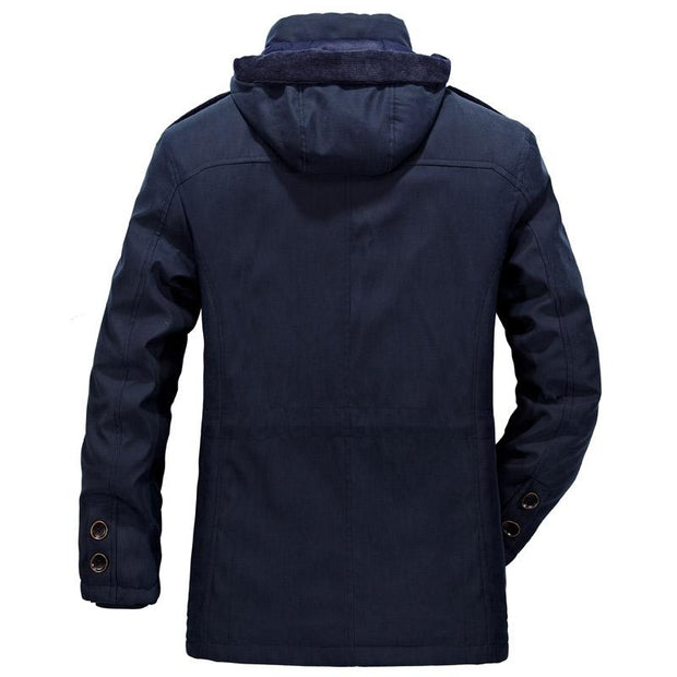 West Louis™ Men Warm Parkas Heavy Wool Coat  - West Louis