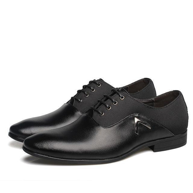 West Louis™  Leather Elegant Design Casual Oxfords Black / 6.5 - West Louis