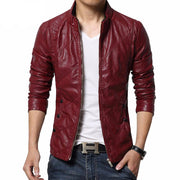 West Louis™ PU leather Biker Jacket Red / M - West Louis