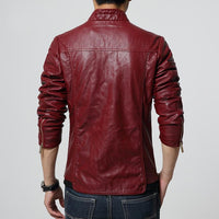 West Louis™ PU leather Biker Jacket  - West Louis