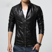 West Louis™ PU leather Biker Jacket Black / M - West Louis