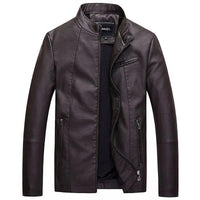 West Louis™ Bomber Leather Men Jackets Coffee / S - West Louis