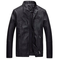 West Louis™ Bomber Leather Men Jackets Black / S - West Louis