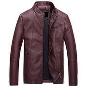 West Louis™ Bomber Leather Men Jackets Red / S - West Louis